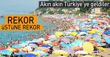 Turist sayısındaki artış rekoru sürüyor