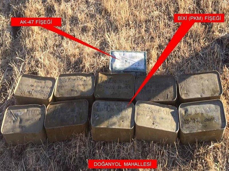 Şırnakta PKKya ağır darbe! İşte ele geçirilen mühimmatlar