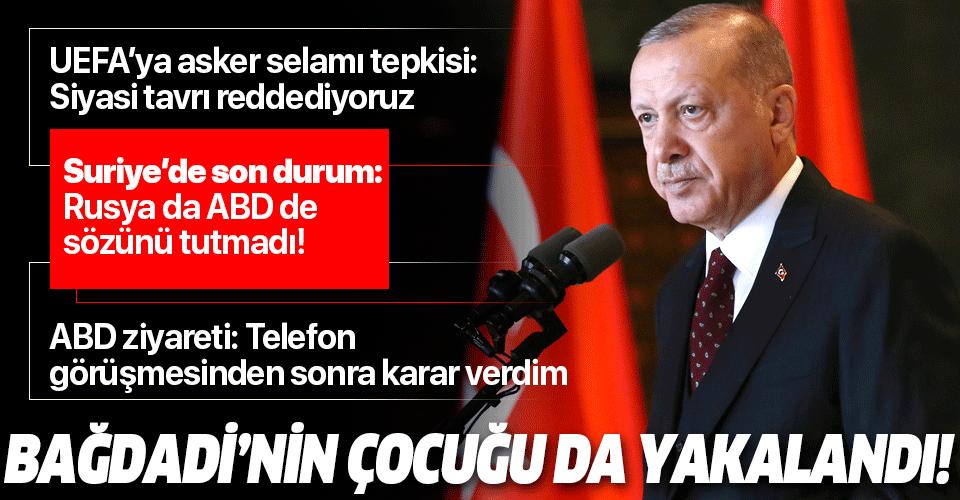 Son dakika: Başkan Erdoğan Macaristan ziyareti öncesi açıkladı: Bağdadi'nin çocuğu yakalandı