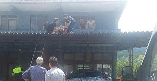 Balkona uçtu