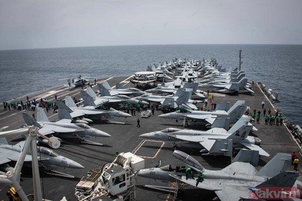 Fotoğraflar arka arkaya geldi! ABD donanmasına ait gemi...