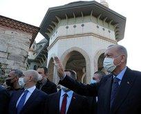 Erdoğan cuma namazını Taksim Camisi'nde kıldı