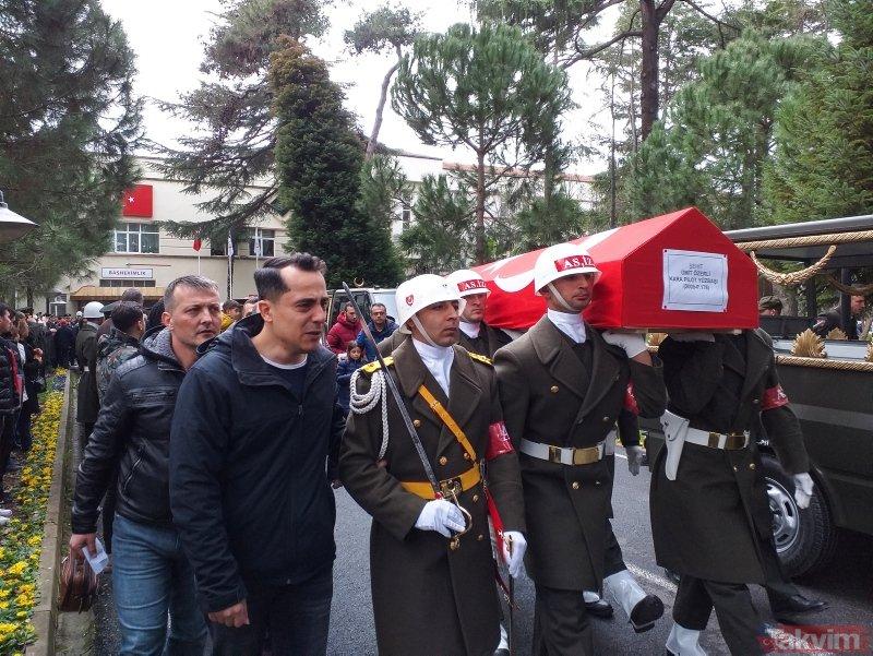 Çekmeköy'de düşen helikopterde şehit olan kahramanlara veda!