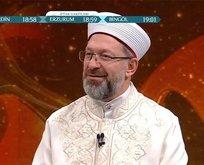 Ali Erbaş'tan VAV TV'de teravih açıklaması