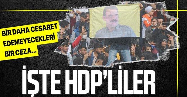 HDP'lilerden bölücü terör örgütü PKK propagandası