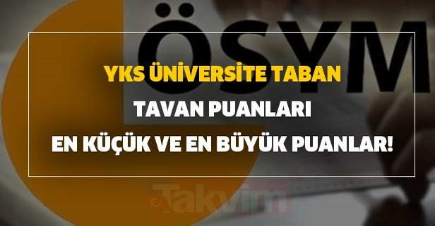 YKS tercih sonuçları sonrası üniversite taban - tavan puanları boş açıklandı!
