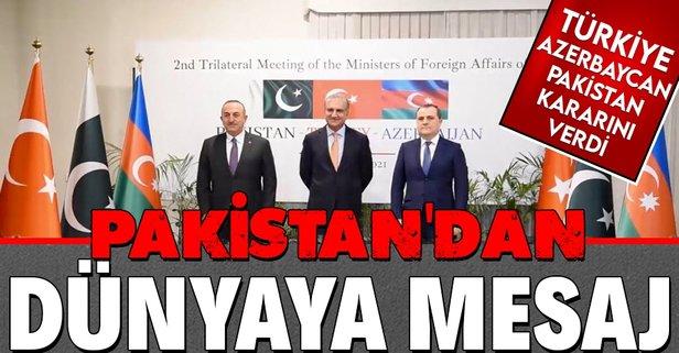 Pakistan'dan Türkiye ve Azerbaycan açıklaması