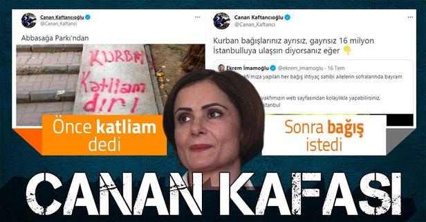 CHP'li Canan Kaftancıoğlu'nun 'kurban' ikiyüzlülüğü! Önce 'katliam' dedi sonra bağış istedi - Takvim