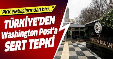 Türkiye'den terör örgütü PKK propagandası yapan Washington Post'a sert tepki