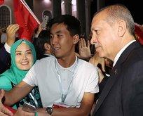 Başkan Erdoğana sevgi seli!