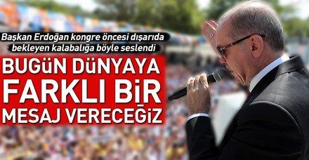 Başkan Erdoğan Ankara'da konuştu