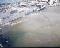 İzmir'deki tsunamiden en net görüntüler ortaya çıktı! İşte o anlar...