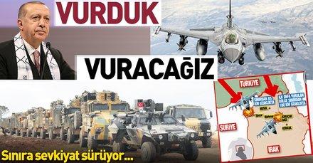 Suriye'deki YPG'li teröristleri vurduk vuracağız