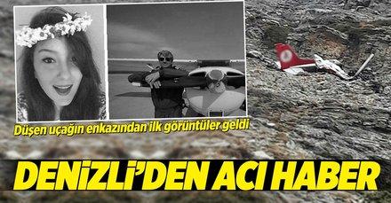 Son dakika: Denizlide düşen uçağın enkazına ulaşıldı