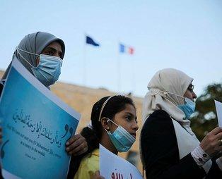 İsrail işgâli altındaki Kudüs'te, Fransa ve Macron'un İslam karşıtlığı protesto edildi: Ona dokunulmasını asla kabul etmiyoruz