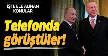 Son dakika haberi: Başkan Erdoğan ile Putin arasında kritik telefon görüşmesi