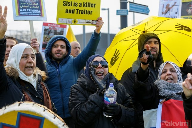 Darbeci Sisi'ye Londra'da sert protesto