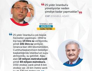 CHP adayını canlı yayında Yıldırım çarptı! İşte İmamoğlu'nun iddialarına Yıldırım'ın yanıtları...
