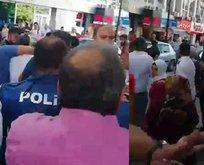 Polis kalabalığın elinden zor aldı