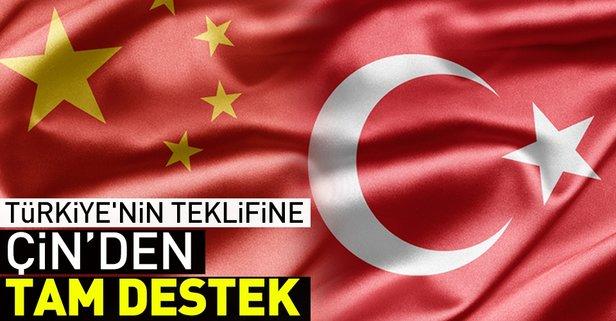 Çinden Türkiyenin teklifine büyük destek