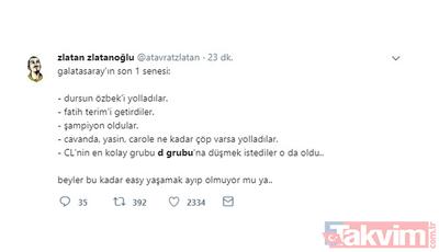 Sosyal medyada Galatasaray'ın düştüğü D Grubu yorumları