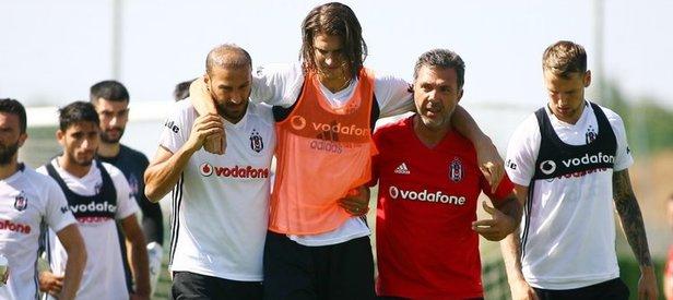 Beşiktaş antremanında sakatlık şoku