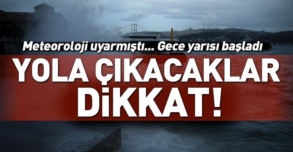 İstanbullular dikkat! Seferler iptal edildi