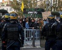 Macron'un başı yeniden belada! Fransa'da Paris ve Rennes'deki eylemlerde olay çıktı
