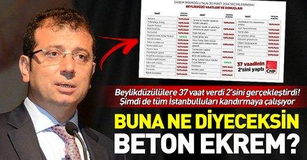 CHP'nin İstanbul adayı Ekrem İmamoğlu, Beylükdüzü için açıkladığı vaatleri yerine getirmemiş