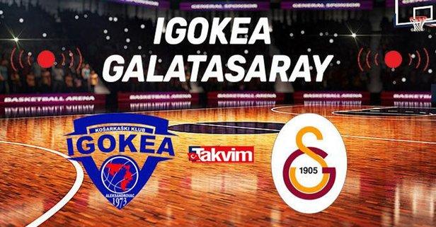 Igokea Galatasaray maçı saat kaçta? ING Şampiyonlar Ligi Igokea- Galatasaray Nef basketbol maçı hangi kanalda, şifreli mi?