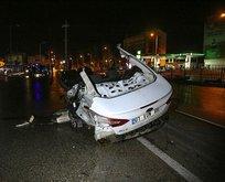Adana'da feci kaza! 5 parçaya ayrıldı