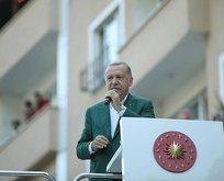 Erdoğan'dan sel bölgesinde esnafa müjde