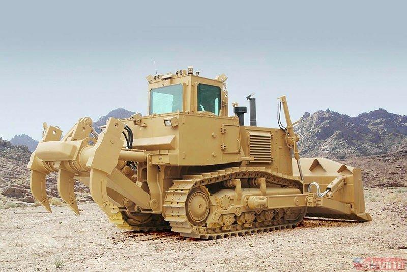 Hendek ve barikat canavarı! TSK'ya 50 ton ağırlığında zırhlı dozer (Türkiye'nin yerli ve milli silahları)