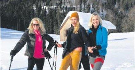 Alara Koçibey, Biricik Suden ve Mine Kalpakçıoğlu kayak yaptı