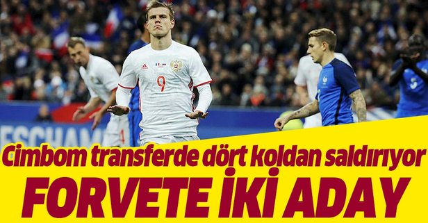 Galatasaray'da forvete 2 aday!