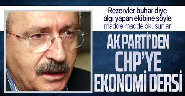 AK Parti'den CHP'ye ekonomi dersi