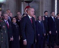 Devlet erkanı Atatürk'ü anma töreni için Anıtkabir'de