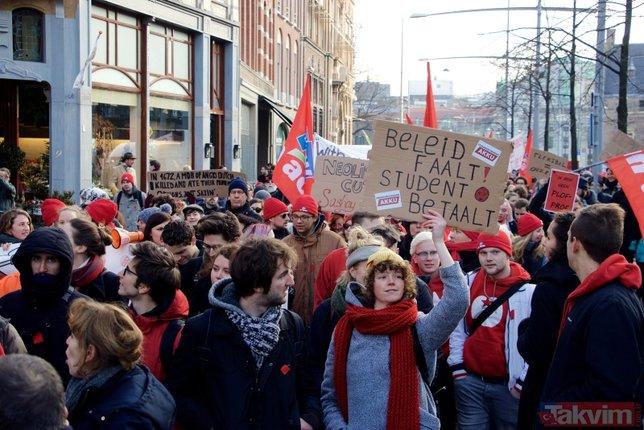 Hollanda'da hükümet karşıtı protesto
