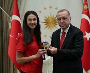 Başkan Erdoğan dünya şampiyonunu kabul etti