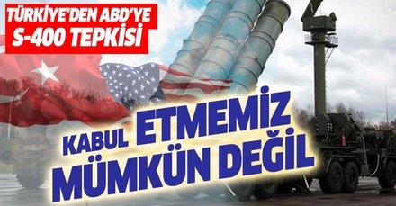 Son dakika...Türkiye'den S-400 açıklaması: Kabul etmemiz mümkün değil