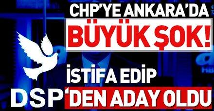 CHP'den istifa eden Haydar Yılmaz DSP'nin Ankara adayı oldu