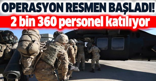 Kıran-6 operasyonu 2360 personelle başladı!