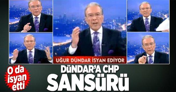 Uğur Dündar'a CHP sansürü