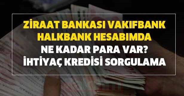 Ziraat Bankası, Vakıfbank, Halkbank hesabımda ne kadar kaç TL para var?  İhtiyaç kredisi ATM, SMS, telefon ve internetten sorgulama - Takvim