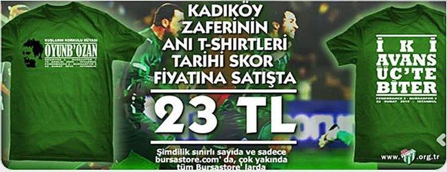 Bursaspor'dan Fener'e Özel Tişört