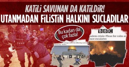 Dünya basını katil İsrail'in safını seçip Filistinlileri suçladı!