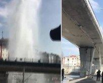 İstanbul'da şaşırtan görüntü!
