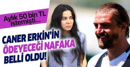 Son dakika: Beşiktaş'ın yıldız futbolcusu Caner Erkin ile Asena Atalay'ın nafaka davasında karar: 50 bin TL istemişti...