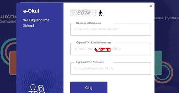 e-okul.meb.gov.tr: Dijital karne sorgulama ekranı!