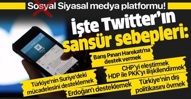 Twitter'dan ifade özgürlüğüne sansür!